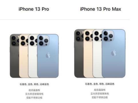 iPhone13和max这两款新机型有什么区别 哪款更好一些